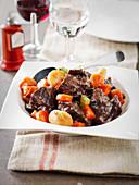 Beef Cheek,Carrot,Potato And Red Wine Daube