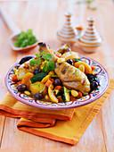 Hähnchentajine mit Oliven und Trockenfrucht