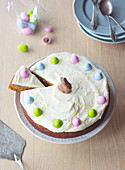 Easter carrot cake with cream cheese icing