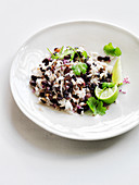 Gallo pinto (Reis mit schwarzen Bohnen)