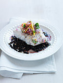 Mango Sea Bass with Marinated Ginger Salad and Wild Rice