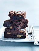 Walnut Brownie Slice