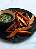 Sweet Potato Fries with Pesto