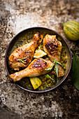 Chicken Drumsticks With Lentils