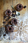 Small Chocolate Christmas Kougelhopfs