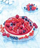 Lemon and red fruit bavaroise
