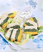 Terrine mit dreierlei Gemüse