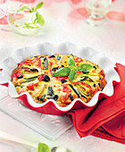 Clafoutis with sunny vegetables