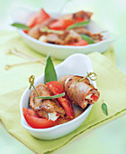 Veal Saltimbocca with Tomato and Mozzarella