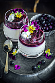 Earl Grey Panacotta With Blueberry Compote