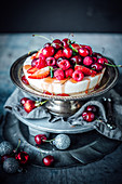 Baked Cardamom Ricotta Cheesecake With Red Fruits