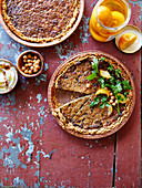 Mini-quiche with ground lamb, chickpeas and preserved lemons
