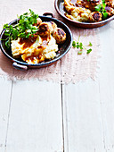 Veal Meatballs with gravy