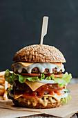 Amerikanischer Double Cheeseburger