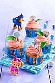 Paw Patrol Cupcakes für den Kindergeburtstag