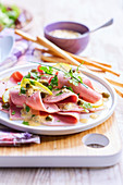 Vitello tonnato revisited with ham