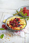 Summer berry gratin