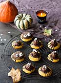 Pumpkin Chocolate Spiders Halloween Cookies