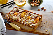 Quince Pie with Slivered Almonds