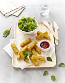 Oregano-flavored chips
