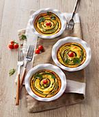 Pikante Clafoutis mit Zucchini und Oregano