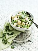 Bean salad with potatoes