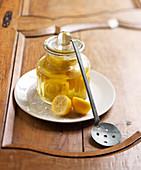 Jar of candied lemons