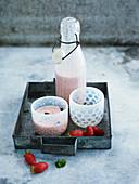 Strawberry kefir
