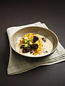 Chicken with morels in yellow wine sauce by Frank Muller