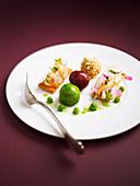 Coated foie gras delicacies