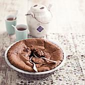 Chocolate fondant with Earl grey tea