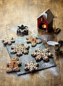 Christmas Gingerbreads With Icing
