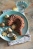 Easter Fish-Shaped Chocolate Cake