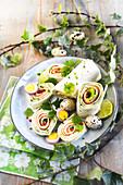 Wraps mit Lachs zu Ostern