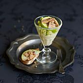 Artischockencreme mit Apfel und Foie Gras