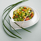Vegetable tartare with herbs