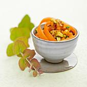 Curried vegetable tartare