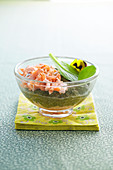 Spinach puree with salmon