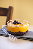 Sweet potato puree with black pudding