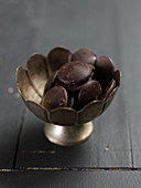 Bowl of chocolate drops