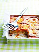 Karamellisierter Ananaskuchen vom Blech