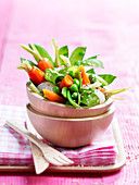 Crisp spring vegetable salad