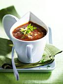 Sauce Chasseur (Champignon-Rotweinsauce)