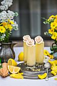 Lemon and coconut mousse