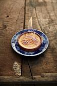 Crème caramel flambée