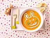 Karottencremesuppe mit Pastinaken und Linsen für Kinder
