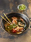 shrimp soup with lemongrass