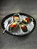 Gratinierte Austern nach Cajun Art