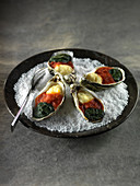 Oysters au gratin Cajun style