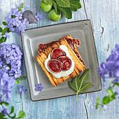 Crisp Feuilleté with fig jam filling